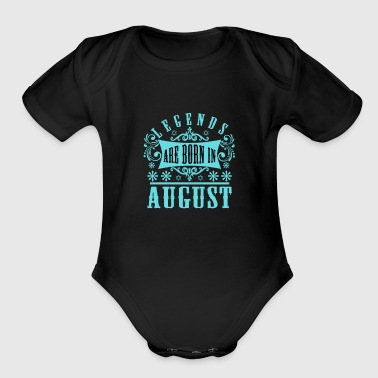 August - Organic Short Sleeve Baby Bodysuit