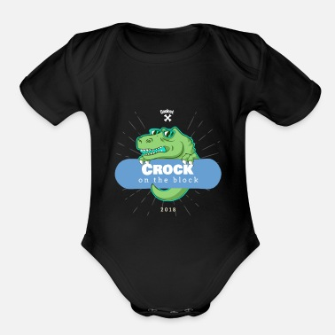 Aggressor Crock in the block - Organic Short-Sleeved Baby Bodysuit