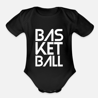 Basketball - Basketball statement design - Organic Short-Sleeved Baby Bodysuit