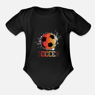 Soccer Ball Soccer Ball - Organic Short Sleeve Baby Bodysuit