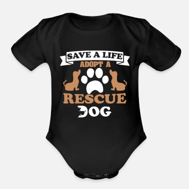 Rescue Dog Rescue Dog - Organic Short-Sleeved Baby Bodysuit