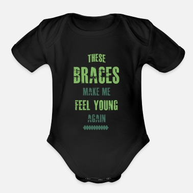 Braces Braces - Organic Short-Sleeved Baby Bodysuit