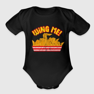 Delicious Food - Wing Me - Organic Short Sleeve Baby Bodysuit