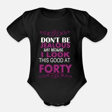 Look Good LOOK GOOD AT 40 - Organic Short-Sleeved Baby Bodysuit
