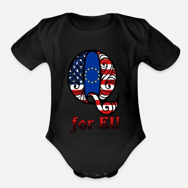 Eu Q for EU - Organic Short Sleeve Baby Bodysuit