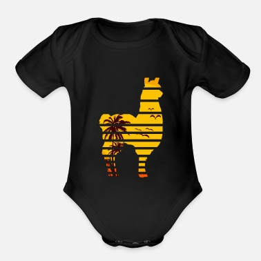 South America Llama South America - Organic Short Sleeve Baby Bodysuit