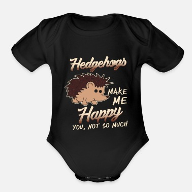 Animal Hedgehog - Organic Short-Sleeved Baby Bodysuit