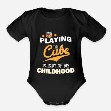 Zauberwürfel Playing The Magic Cube - Limited Edition - Organic Short-Sleeved Baby Bodysuit