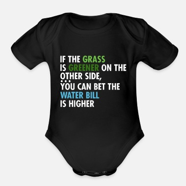 Grass If The Grass Is Greener - Organic Short Sleeve Baby Bodysuit