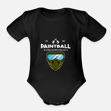 Paintball Paintball - Organic Short Sleeve Baby Bodysuit