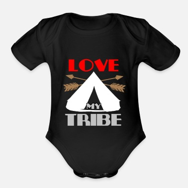Indian Indian Tribe - Organic Short-Sleeved Baby Bodysuit