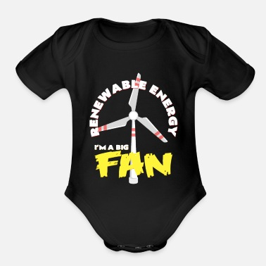 Turbine Wind turbine - Organic Short-Sleeved Baby Bodysuit