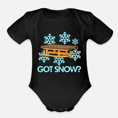 Sled Sled - Organic Short-Sleeved Baby Bodysuit
