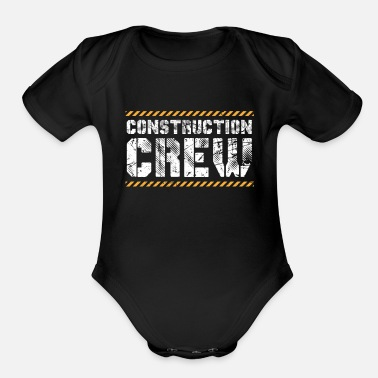 Worker Construction Worker - Organic Short-Sleeved Baby Bodysuit