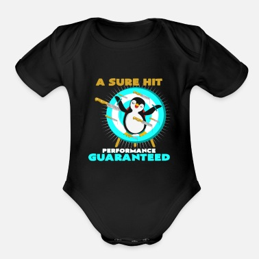 Throwing Knife Knife Throwing Penguins Gift Idea Birthday - Organic Short-Sleeved Baby Bodysuit