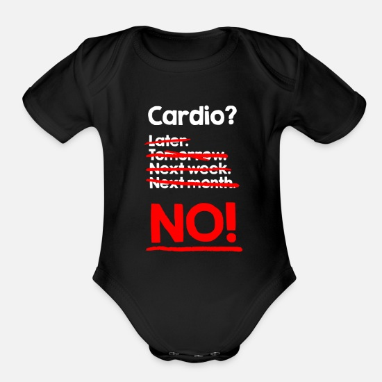 Weight Baby Clothing - Cardio Training Sports Weight Loss Fitness Weight - Organic Short-Sleeved Baby Bodysuit black