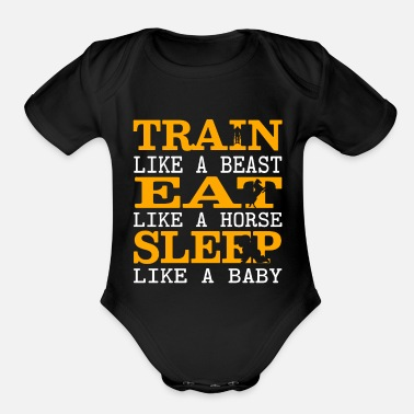 Motto Gym Motto - Organic Short Sleeve Baby Bodysuit