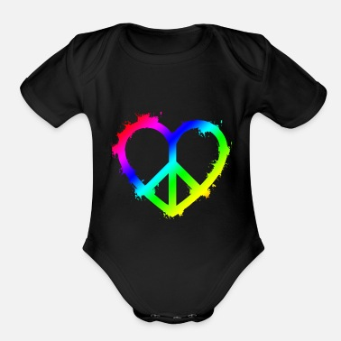 Peace - Organic Short-Sleeved Baby Bodysuit