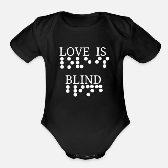 553414e96 Braille Baby Clothing - Love Is Blind Braille Writing Blindness Awareness -  Organic Short-Sleeved