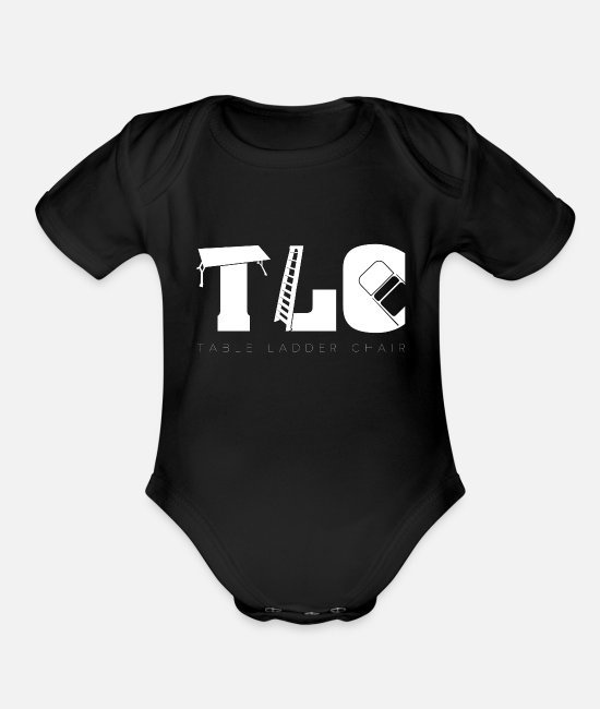 Boys Wrestling Baby One Pieces - Wrestling TLC | Tables Ladders Chairs Wrestle - Organic Short-Sleeved Baby Bodysuit black