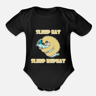 Frequent Sleep Sleep Eat Sleep Repeat - Organic Short-Sleeved Baby Bodysuit