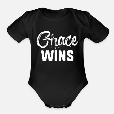 Yourself Grace Wins - Organic Short Sleeve Baby Bodysuit