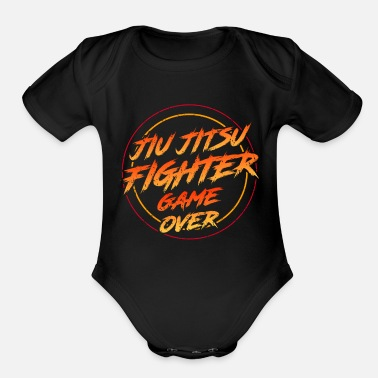 Sports jiu jitsu fighter sport - Organic Short-Sleeved Baby Bodysuit