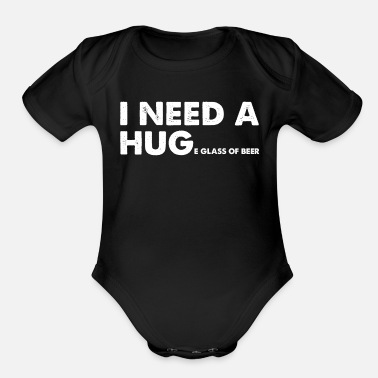 Liquor Beer glass drink liquor - Organic Short Sleeve Baby Bodysuit