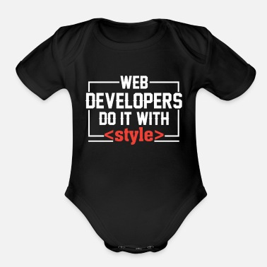 Developer web developers - Organic Short-Sleeved Baby Bodysuit