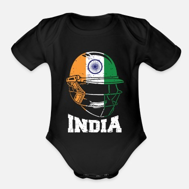India India Cricket Kit : 2019 Indian International - Organic Short-Sleeved Baby Bodysuit