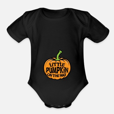 Pregnancy Announcement Little pumpkin on the way - Organic Short Sleeve Baby Bodysuit