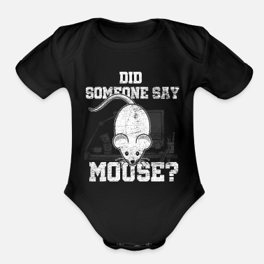 Mouse Mouse Computer Mouse - Organic Short-Sleeved Baby Bodysuit