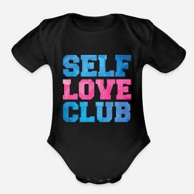 Selflove selflove club - Organic Short-Sleeved Baby Bodysuit