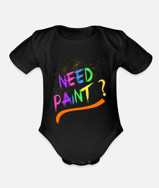 Artist Baby One Pieces - Paint Painting Hobby Sport - Organic Short-Sleeved Baby Bodysuit black