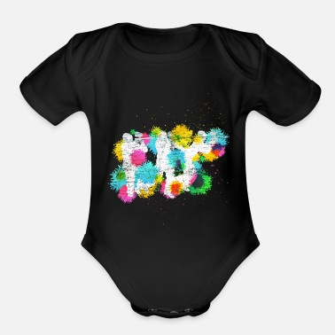 Paint Paintball Paint Ball - Organic Short-Sleeved Baby Bodysuit