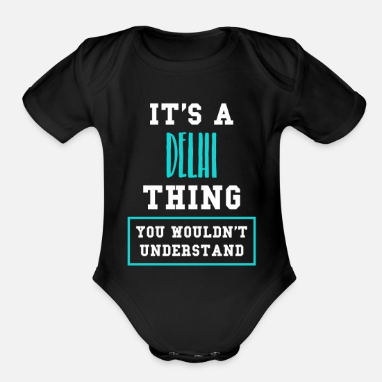Hindi Baby Clothing - Delhi - Organic Short-Sleeved Baby Bodysuit black