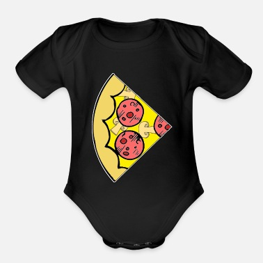Pizza Slice of pizza - Small (Part 2) - Organic Short-Sleeved Baby Bodysuit