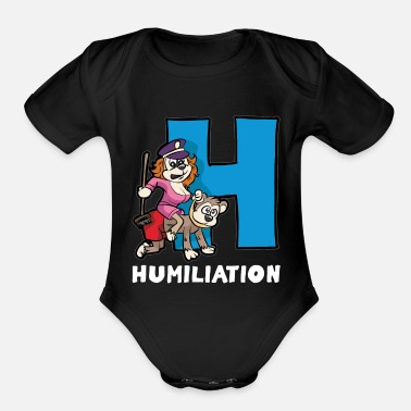 Dominatrix HUMILIATION BDSM sadomaso Slave Sub Dominatrix - Organic Short-Sleeved Baby Bodysuit
