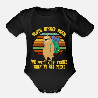 Sloth Sloth Hiking Team TShirt for sloth lover hiking - Organic Short-Sleeved Baby Bodysuit