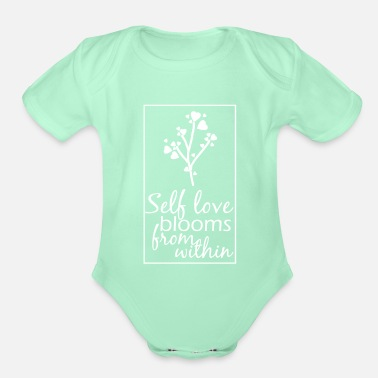 Happiness Happy Happiness Happy Love Happy - Organic Short-Sleeved Baby Bodysuit