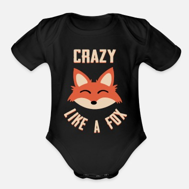 Forest fox fox forest animal fox fux forest animal - Organic Short-Sleeved Baby Bodysuit