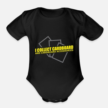 Gaming Collection Trading Card Game - Funny Cardboard Collectibles - Organic Short-Sleeved Baby Bodysuit