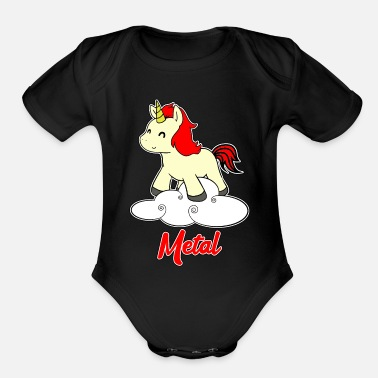 Rock Am Ring Metal Unicorn - Unicorn - Metal - Music - Organic Short-Sleeved Baby Bodysuit