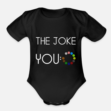 Joke The joke - Organic Short-Sleeved Baby Bodysuit