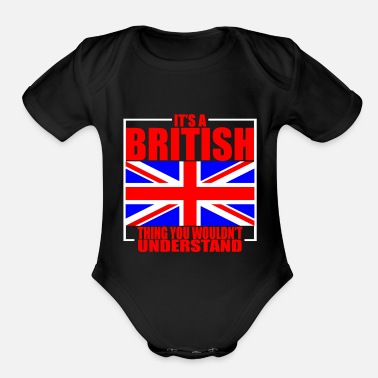 England Great Britain Culture - Organic Short-Sleeved Baby Bodysuit