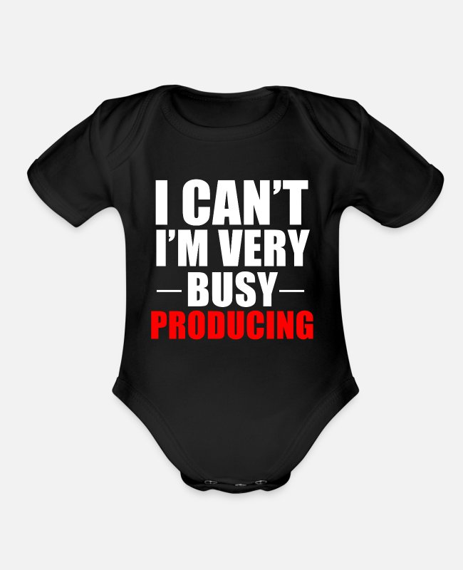 Music Producer Baby One Pieces - Producing Producer Music Dj Funny Gift - Organic Short-Sleeved Baby Bodysuit black