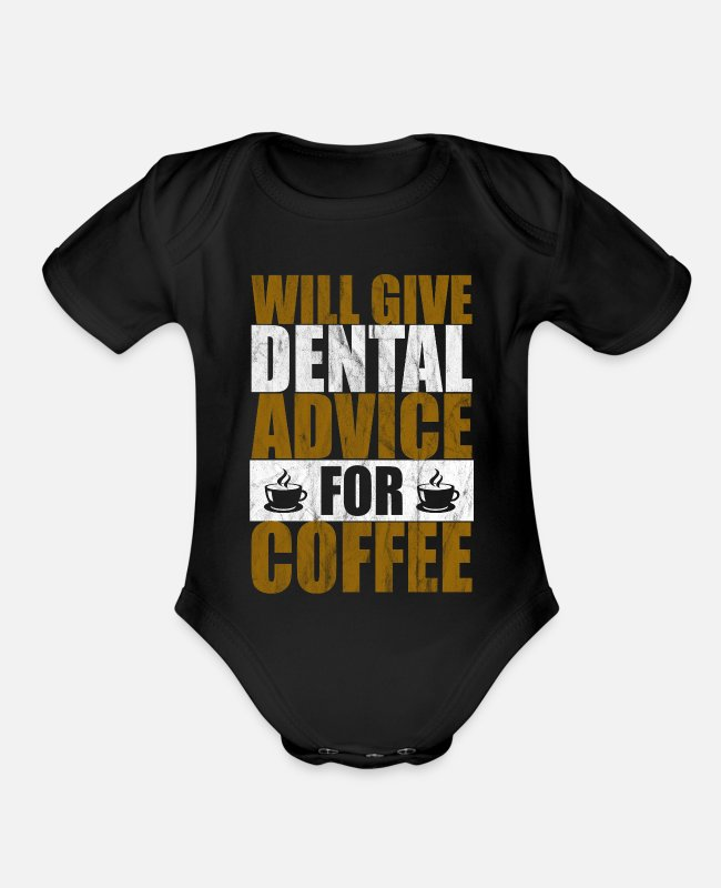 Dental Assistant Baby One Pieces - assistant dental hygienist dental technicians gift - Organic Short-Sleeved Baby Bodysuit black