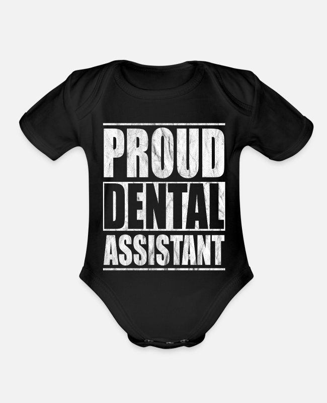 Dental Hygienist Baby One Pieces - lab practices dental preparation laboratories - Organic Short-Sleeved Baby Bodysuit black