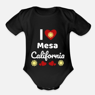 Sun Sunny California Gift Idea I Love California CA - Organic Short-Sleeved Baby Bodysuit