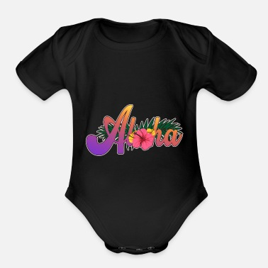 Congratulations Hawaii - Organic Short-Sleeved Baby Bodysuit